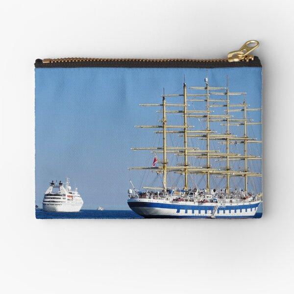 Old vs new ships royal clipper Zipper Pouch