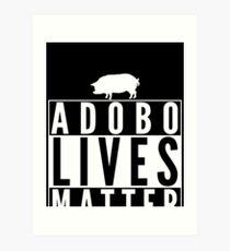 Adobo lebt Angelegenheit Lustiges Schwein Schweinefleisch Kunstdruck
