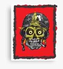 Soldier skull veteran Canvas Print