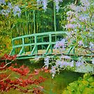 Claude Monet's Wisteria Bridge at Giverny by Dai Wynn