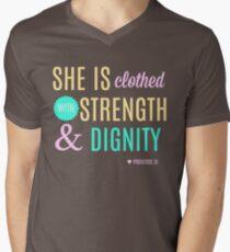 Proverbs 31 Print Men's V-Neck T-Shirt