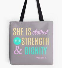 Proverbs 31 Print Tote Bag
