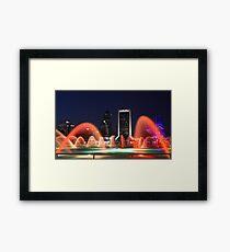 Friendship Fountain, Jacksonville Florida  Framed Print