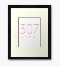 WYOMING 307 • ROSE Framed Print