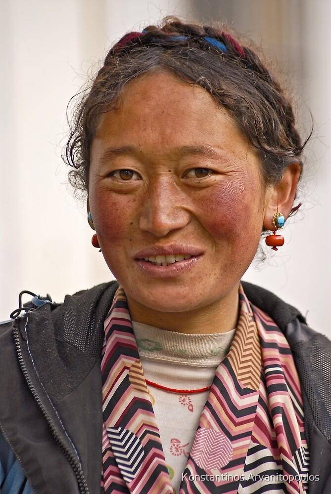 Tibetan girl (III) by Konstantinos Arvanitopoulos