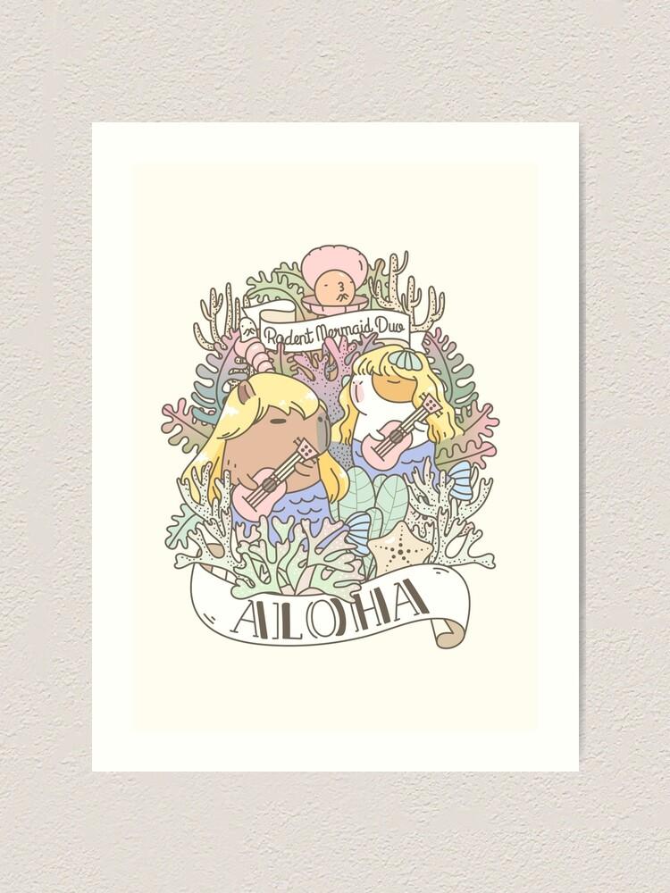 Alternate view of Rodent Mermaid Duo Art Print