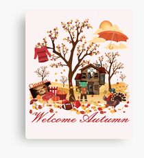 Welcome Autumn - Fall Scenery and Landscape Canvas Print