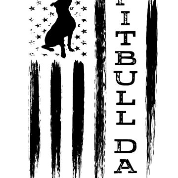 Proud Pitbull Dad American Flag - Mens shirt by worksaheart