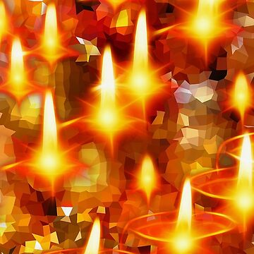 Golden Glowing Christmas Candles by longdistgramma