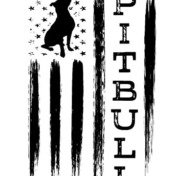 Proud Pitbull Dog American Flag T-shirt Gift by worksaheart