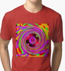 Psychedelic Spiral  Tri-blend T-Shirt
