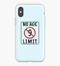 No Age Limit 9th Birthday Gifts Funny B-day for 9 Year Old iPhone Case