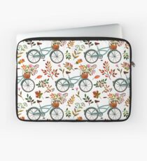 Autumn bike ride on white background Laptop Sleeve