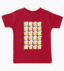Yellow and Orange Rose Pattern Kids Tee