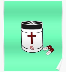 The Cross Prescription pill jar Poster