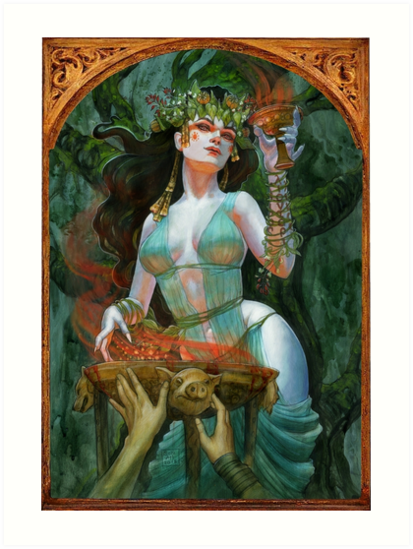 Circe goddess of Enchantments by BohemianWeasel