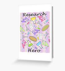 Medical Research Hero Greeting Card