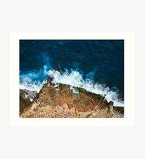 Ein Luftschuß der Salz-Wannen in Marsaskala Malta Kunstdruck