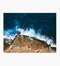 Lámina fotográfica Una toma aérea de las salinas en Marsaskala Malta