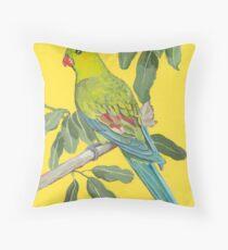 Regent Parrot (Polytelis anthopeplus)  Throw Pillow