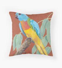 Scarlet-chested Parrot (Neophema splendida) Throw Pillow