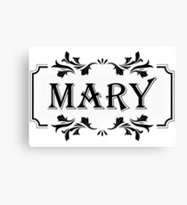 Frame Name Mary Canvas Print