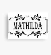 Frame Name Mathilda Canvas Print