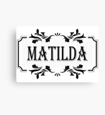 Frame Name Matilda Canvas Print