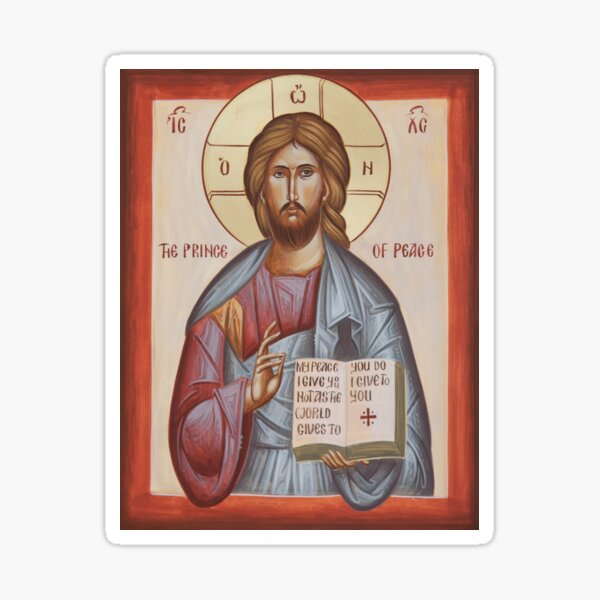 Jesus Christ Prince of Peace Sticker