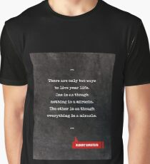Albert Einstein Quotes  - Life Quotes - Book Lover Gifts - Typewriter Quotes Graphic T-Shirt