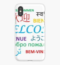 WELCOME Several Languages iPhone Case