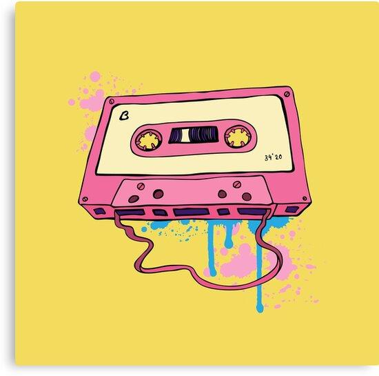 Retro cassette tape. by Katyau