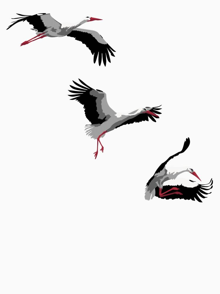 Three storks by EmmeBi-graphic