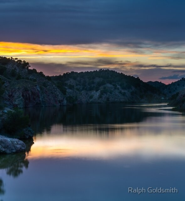 A Hint of Red and Orange After Sunset by Ralph Goldsmith
