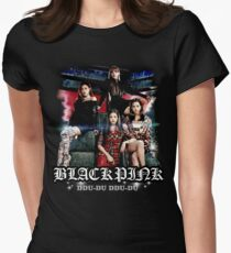 Black Pink 02 Women's Fitted T-Shirt