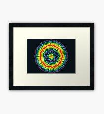 Rings of Rainbow Stars - Processioning Rainbow Rings Framed Print