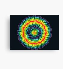 Rings of Rainbow Stars - Processioning Rainbow Rings Canvas Print