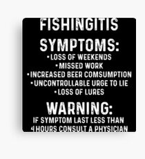 Fishingitis symptoms.  Canvas Print