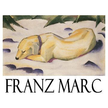 Franz Marc - Dog Lying in the Snow by Chunga
