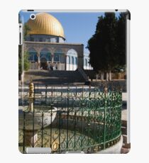 Israel, Jerusalem, Old City, Dome of the Rock El Kas fountain dated 1320 in the foreground iPad Case/Skin