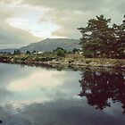 Fort Augustus from beside Caledonian Canal Scotland 19840912 0002M  by Fred Mitchell