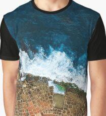 An aerial shot of the Salt Pans in Marsaskala Malta Graphic T-Shirt