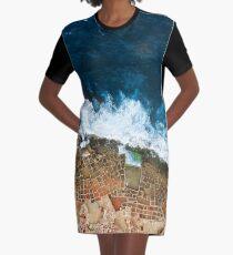 An aerial shot of the Salt Pans in Marsaskala Malta Graphic T-Shirt Dress