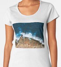 An aerial shot of the Salt Pans in Marsaskala Malta Women's Premium T-Shirt