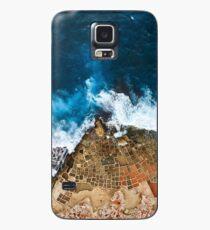 An aerial shot of the Salt Pans in Marsaskala Malta Case/Skin for Samsung Galaxy