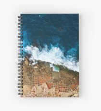 An aerial shot of the Salt Pans in Marsaskala Malta Spiral Notebook