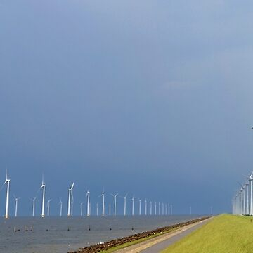 Wind turbines Noordoostpolder Panorama by stuwdamdorp