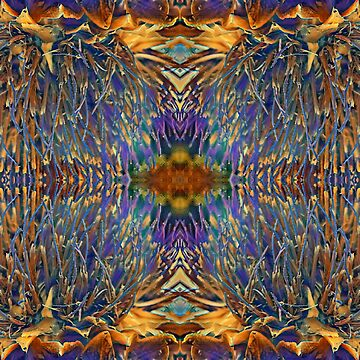 Abstract Creation: Purple Tendrils I by Jardougman