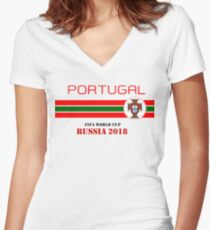 Portugal 2018 Women s Fitted V-Neck T-Shirt aa6770e68