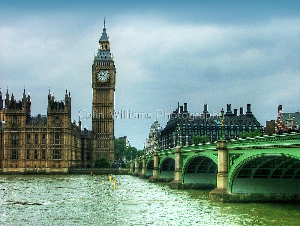 Westminster Bridge and Big Ben by Colin  Williams Photography